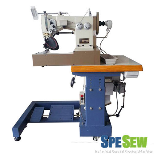UPPER MOCCASIN PATTERN STITCHING MACHINE, INDUSTRIAL SEWING MACHINE, SHOE STITCHING MACHINE